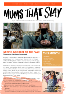 Hustle & Slay Newsletter - Christmas issue self love newsletter motherhood