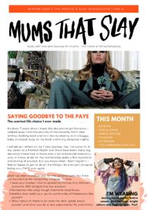 Hustle & Slay Newsletter - Christmas issue self love newsletter motherhood