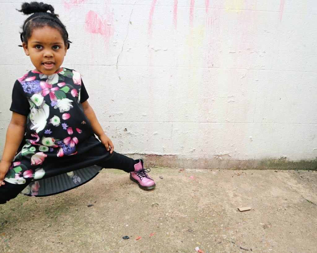 Mums That Slay Winter Florals with Ted Baker kids fashion Ted Baker Kids floral fashion black motherhood blog